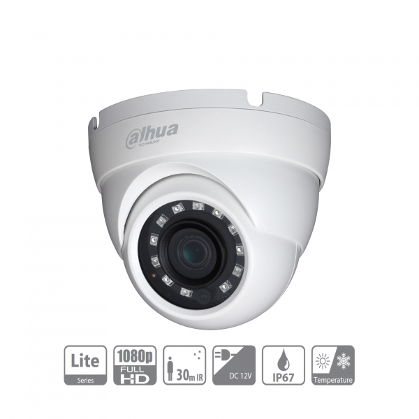Dahua HAC-HDW1200MP-0280B-S4 HDCVI Mini Eyeball Überwachungskamera 2 MP