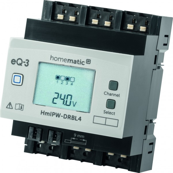 Homematic IP Wired 4-fach-Jalousie-/Rollladenaktor HmIPW-DRBL4